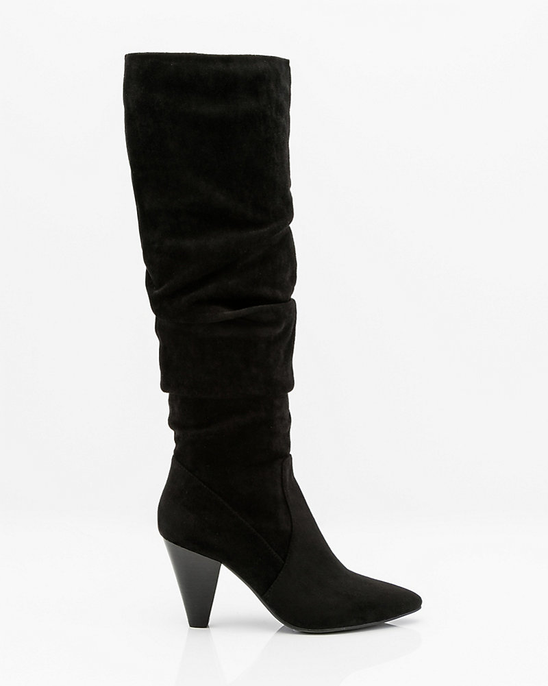 f895409c1c1 Pointy Toe Knee High Slouch Boot