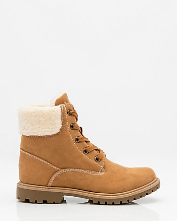Round Toe Hiking Ankle Boot