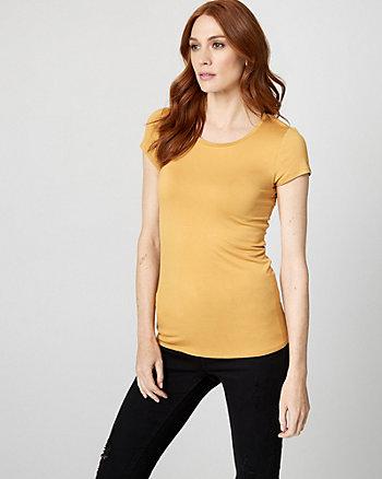 Jersey Knit Crew Neck T-Shirt
