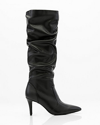Pointy Toe Knee High Slouch Boot