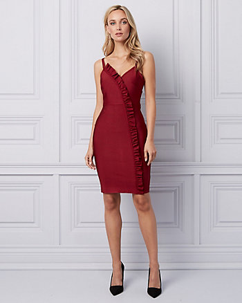 Knit Ruffle Cocktail Dress
