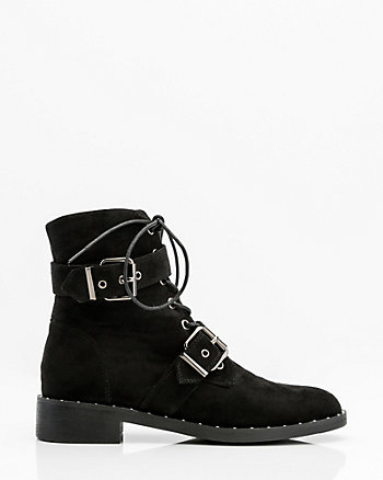 Round Toe Lace-Up Boot