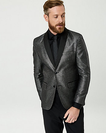 Metallic Shawl Collar Blazer