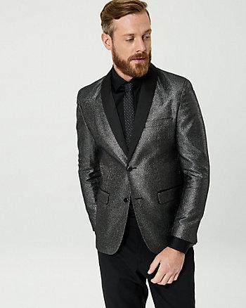 Metallic Shawl Collar Blazer
