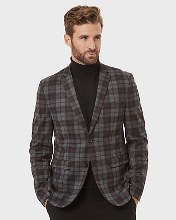 Plaid Knit City Fit Stretch Blazer