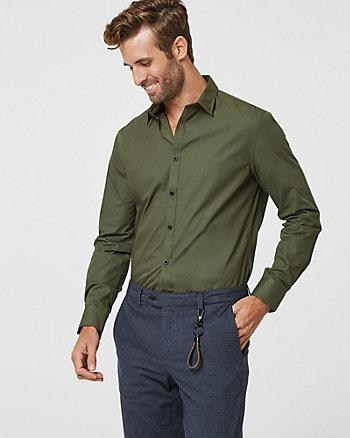 Cotton Blend Slim Fit Shirt