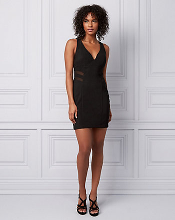 Knit Strappy Back Mini Dress