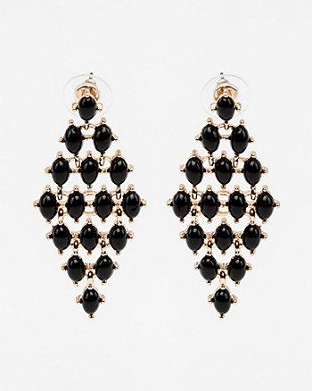 Cabochon Gem Chandelier Earrings