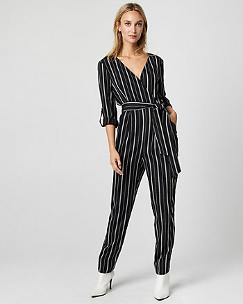 Stripe Slim Leg Jumpsuit