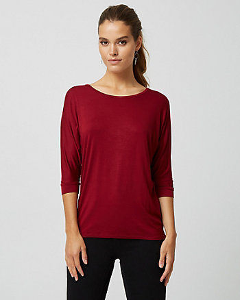 Knit Crew Neck Top
