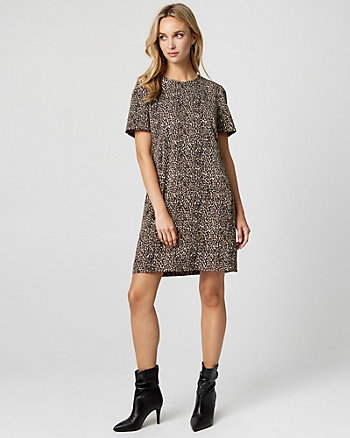 Leopard Print Crêpe de Chine Tunic Dress