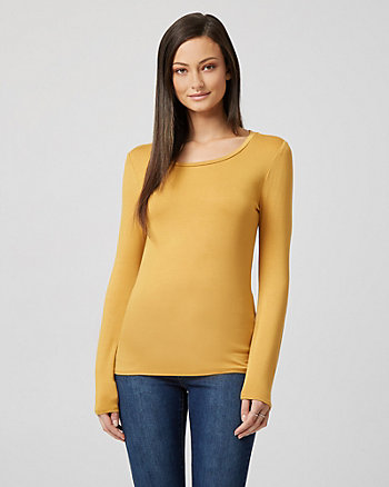 Jersey Knit Crew Neck Top