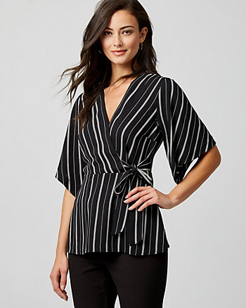 Stripe Peplum Blouse