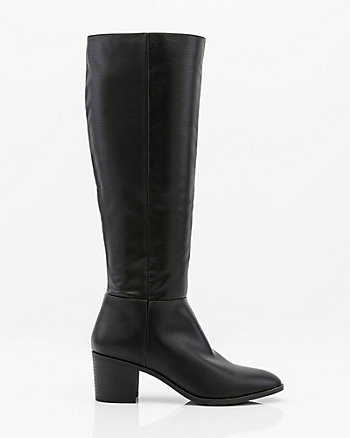 Almond Toe Knee High Boot