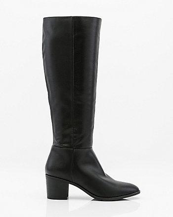 Almond Toe Knee High Boot