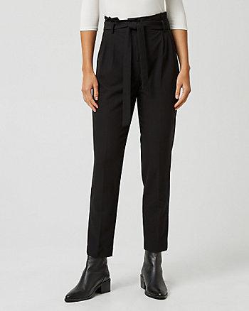 Pantalon à plis en mélange de viscose