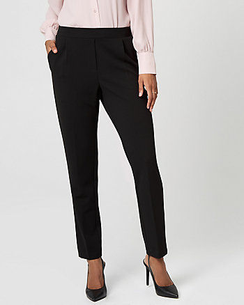 Pull On Knit Crêpe Slim Leg Track Pant