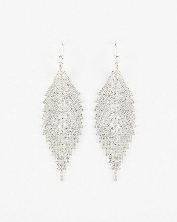 Gem Leaf Drop Earrings