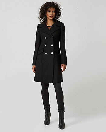 Melton Wool Notch Collar Military Jacket