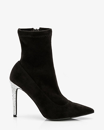 Jewel Embellished Stretch Ankle Boot
