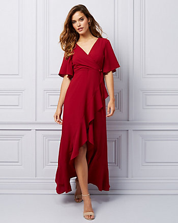 Crêpe de Chine Wrap-like Gown
