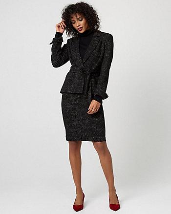 Tweed Belted Blazer