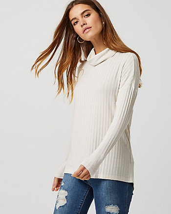 Cut & Sew Knit Turtleneck Sweater