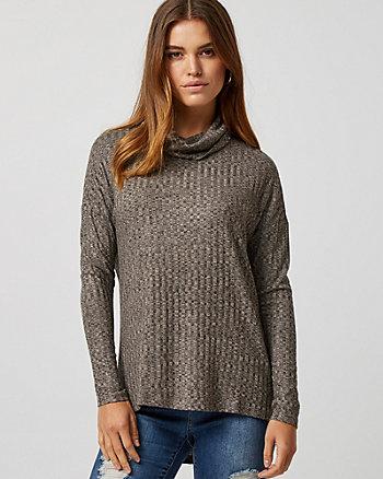 Cut & Sew Knit Turtleneck Sweater