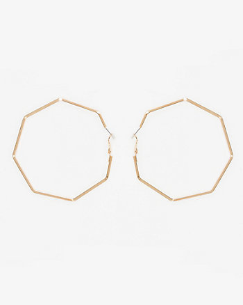 61mm Heptagon Hoop Earrings