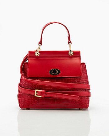 Croco Embossed Satchel