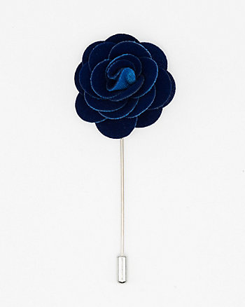 Velvet Flower Lapel Pin
