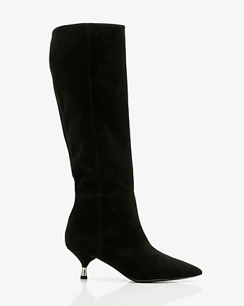 Italian-Made Suede Knee-High Boot