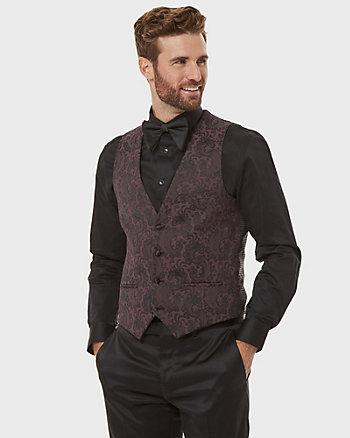 Paisley Print Jacquard City Fit Vest
