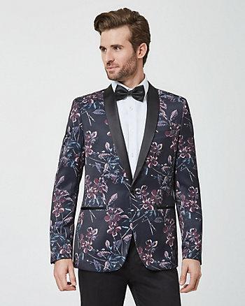 Veston à motif floral et col châle