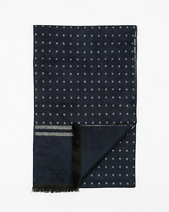 Tonal Dotted Viscose Blend Scarf