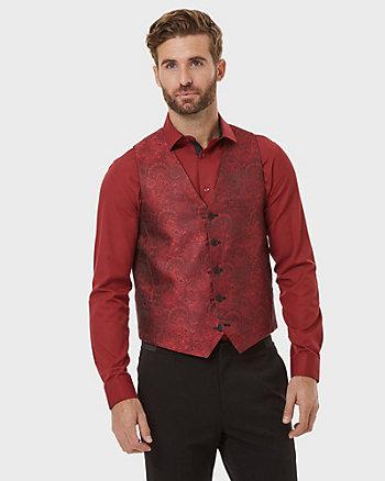 Jacquard Contemporary Fit Reversible Vest