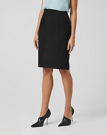 Ponte Knit Peplum Pencil Skirt