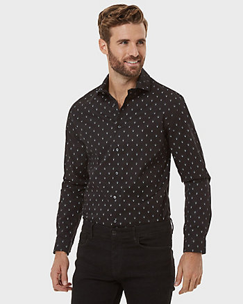 Conversational Print Slim Fit Shirt