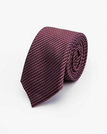 Houndstooth Print Silk Tie