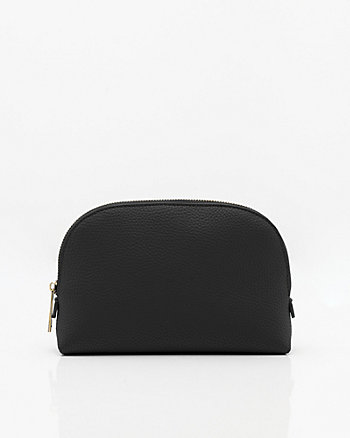 Leather-Like Cosmetic Pouch