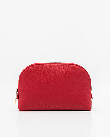 Faux Leather Cosmetic Pouch