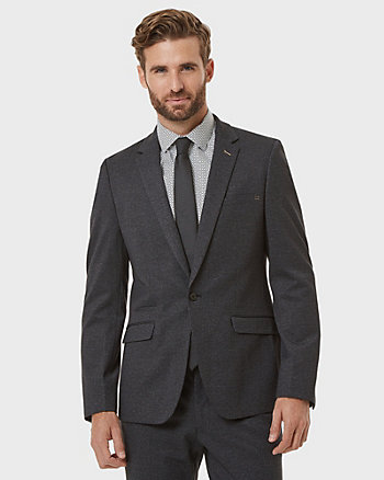 Tonal Knit Slim Fit Blazer