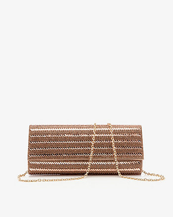 Satin & Gem Flapover Clutch
