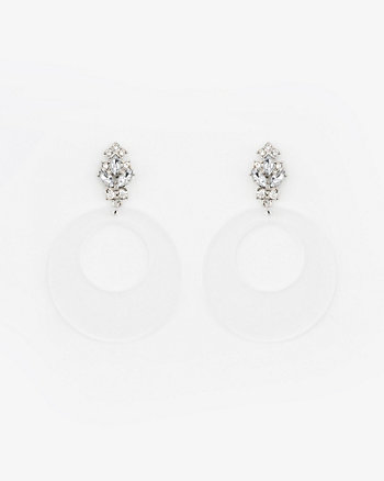 Clear Lucite Hoop Earrings