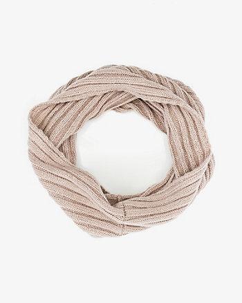 Écharpe tubulaire en tricot à côtes