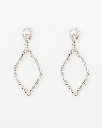 Pearl-Like Embellished Drop Earrings