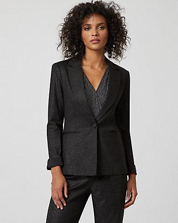 Foil Ponte Knit Classic Fit Blazer