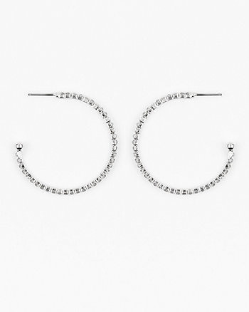 35mm Gem Hoop Earrings