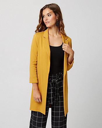 Ponte Knit Notch Collar Blazer
