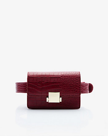 Croco Embossed Belt Bag